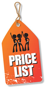 Download our pricelist